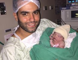 Papai Luiz Fernando com Júlia