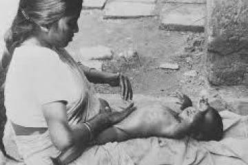 A foto de Shantala tirada por Dr. Frederick Leboyer.