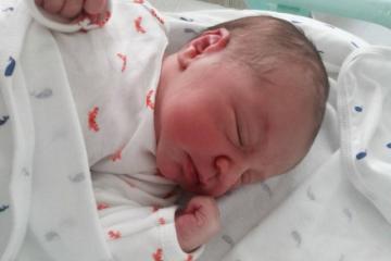 Rafael nasceu de parto normal O primeiro filho de Juliana foi cesariana.