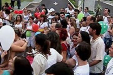 manifestação em Uberlândia (foto do G1)