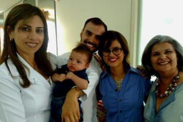 Dra.Avelina, Miguel (bebê), Pedro, Lorena e Lena. (Foto>Isabel Cristina)