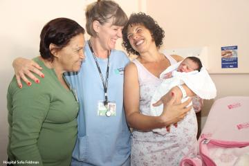 Olívia deu assistência a várias mulheres no Hospital Sofia Feldman.