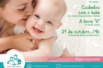 A hora do parto e os cuidados com o recém-nascido serão abordados na palestra.